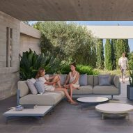 Onde outdoor seating by Luca Nichetto for Gandia Blasco