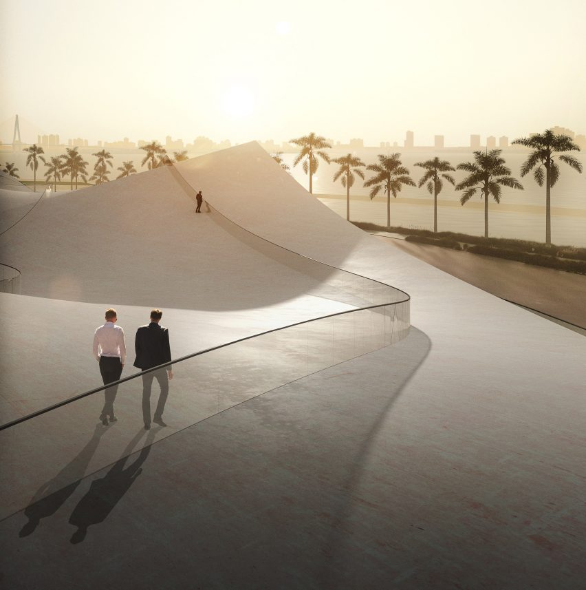 Sou Fujimoto white pavilion in Haikou