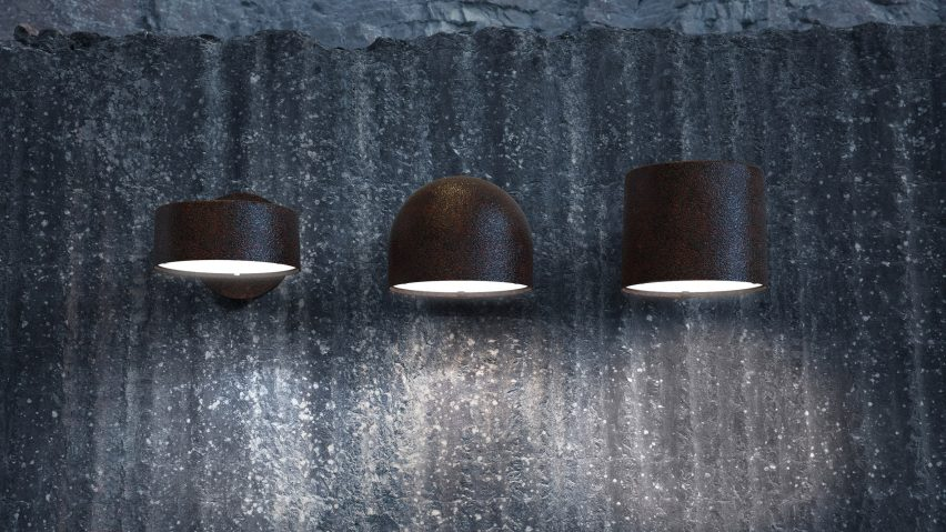Plant outdoor wall lights in black by Thomas Bernstrand for Zero Lighting