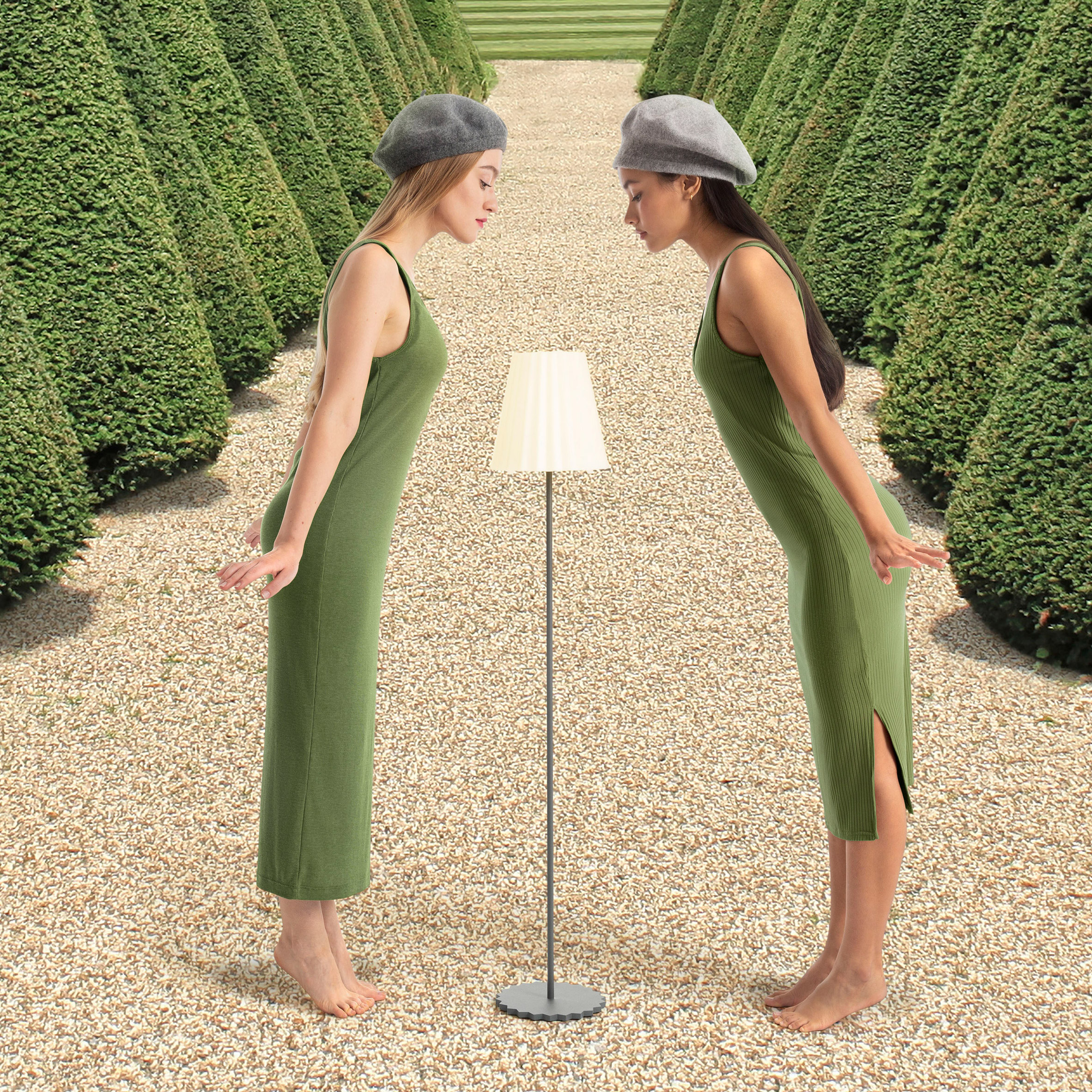 Plisy Up outdoor floor lamp by Alejandra Gandia-Blasco for Diabla