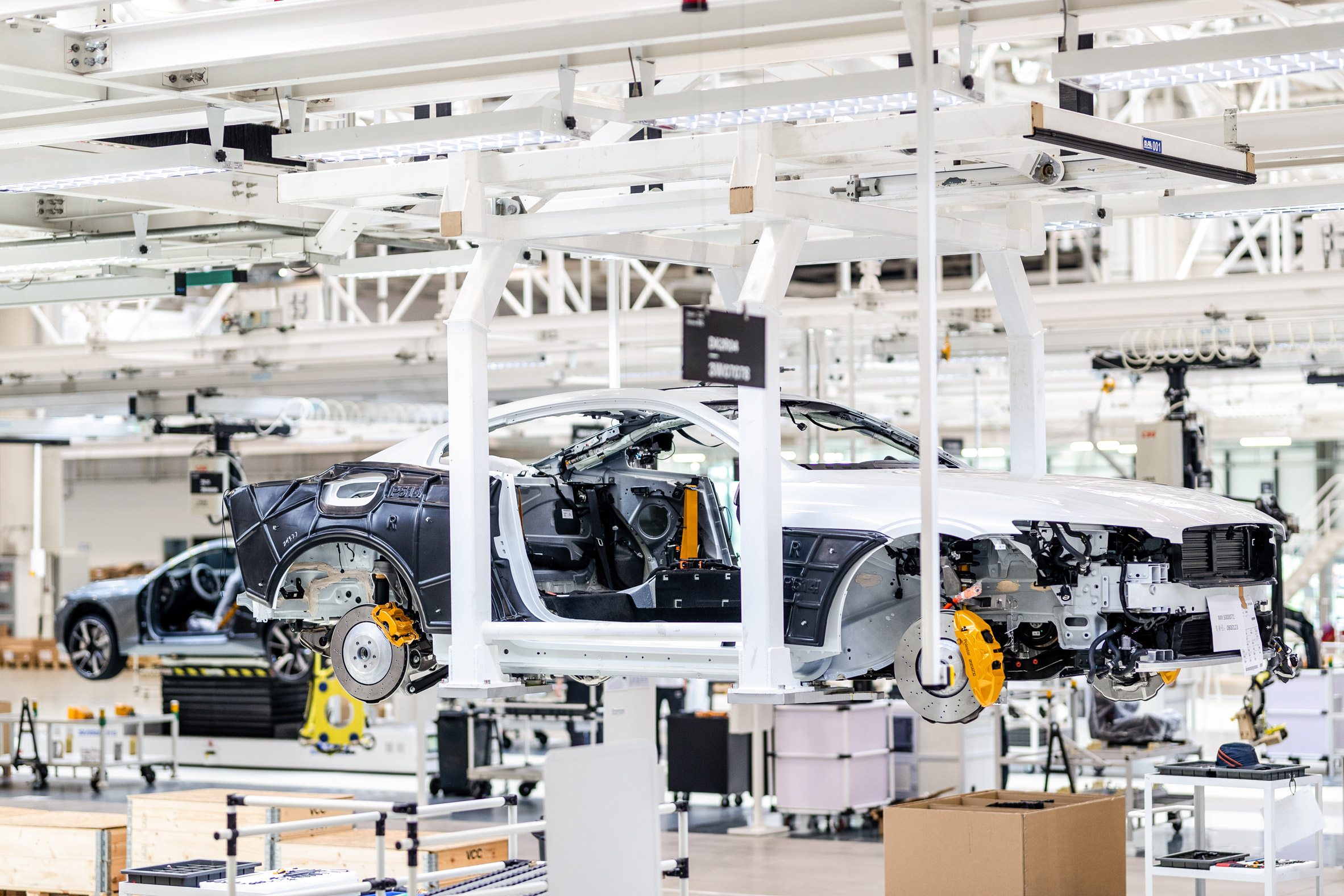 An electric-car factory