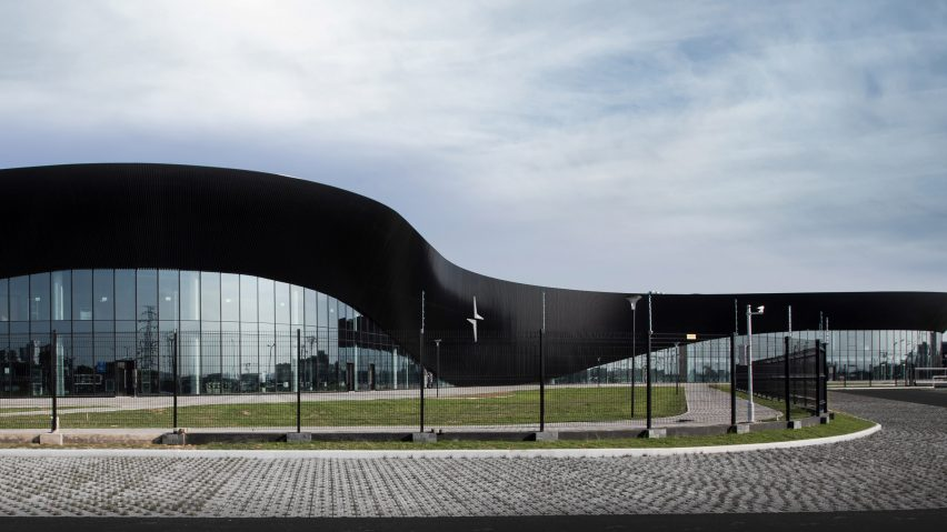 A car factory with black-steel cladding