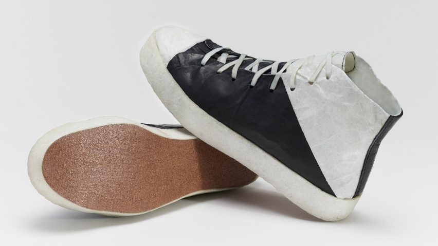 Microbial bio-leather trainers by Public School and Theanne Schiros