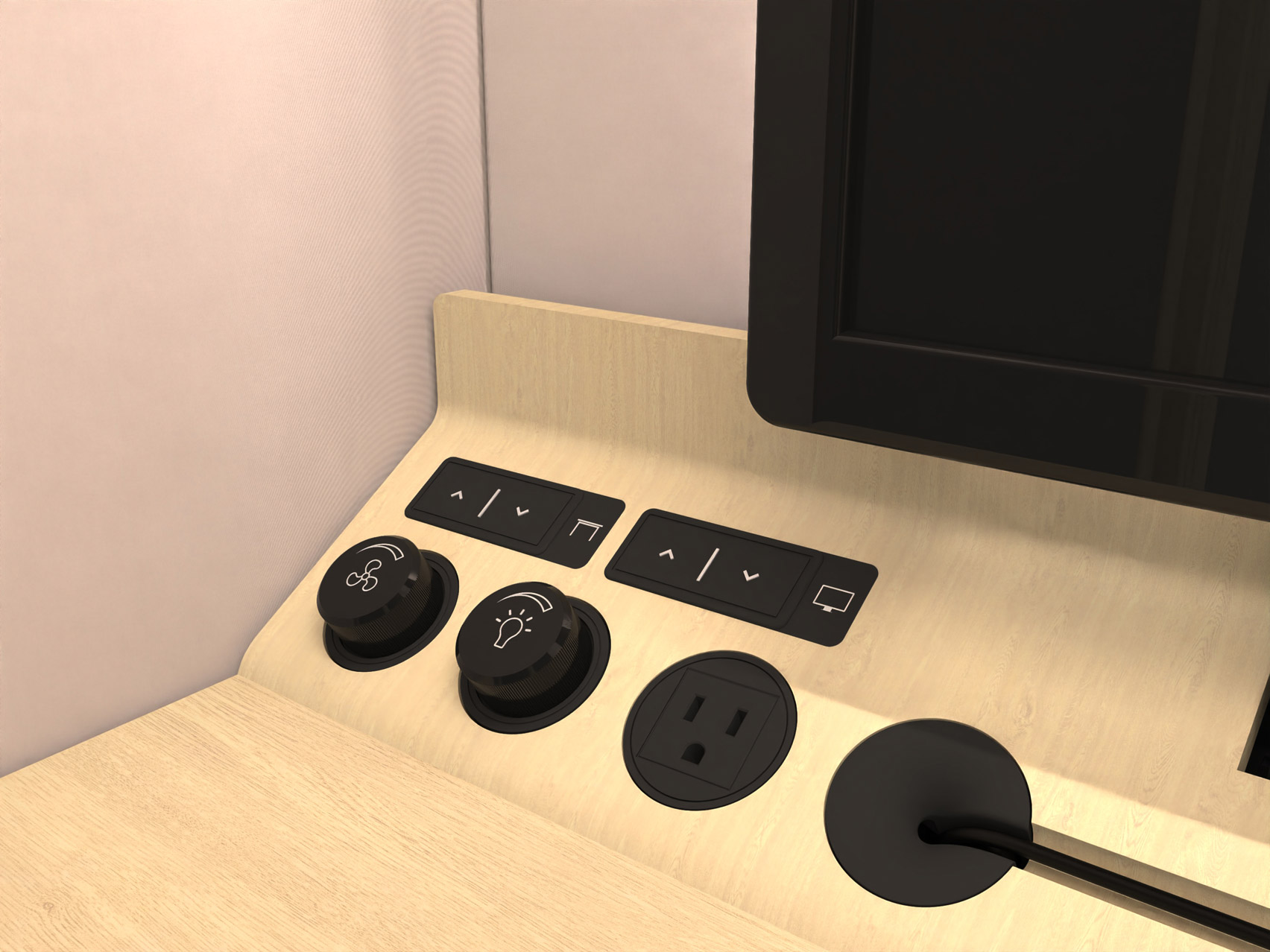 The control panel of a Residence Connect booth