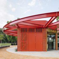 """Carousel""-style brick pavilion"