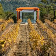 The Richard Rogers Drawing Gallery by Richard Rogers and Rogers Stirk Harbour + Partners at Château La Coste vineyard in France