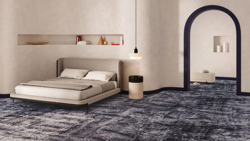 Sierra carpeting in a hotel room