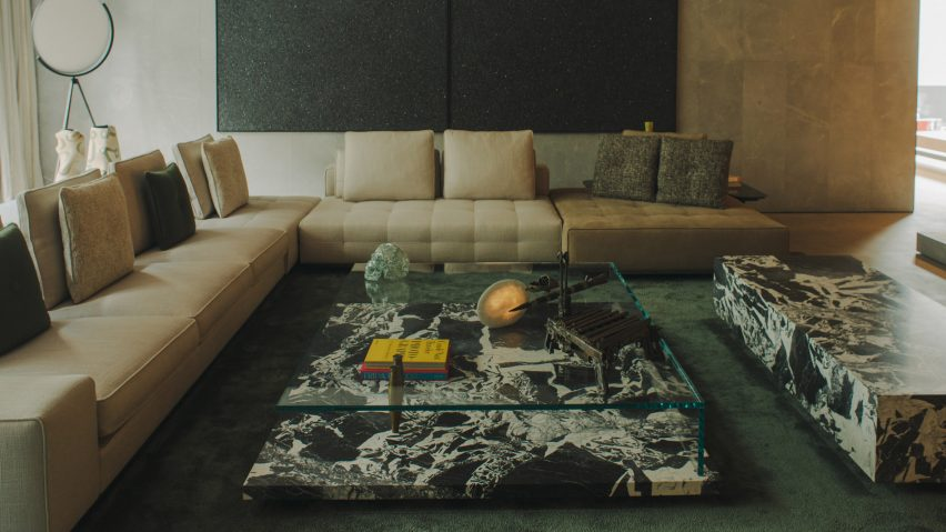 AdH House living room interior and furniture by Simon Hamui