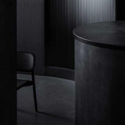 All-black interior of Tokyo's Burnside restaurant by Snøhetta