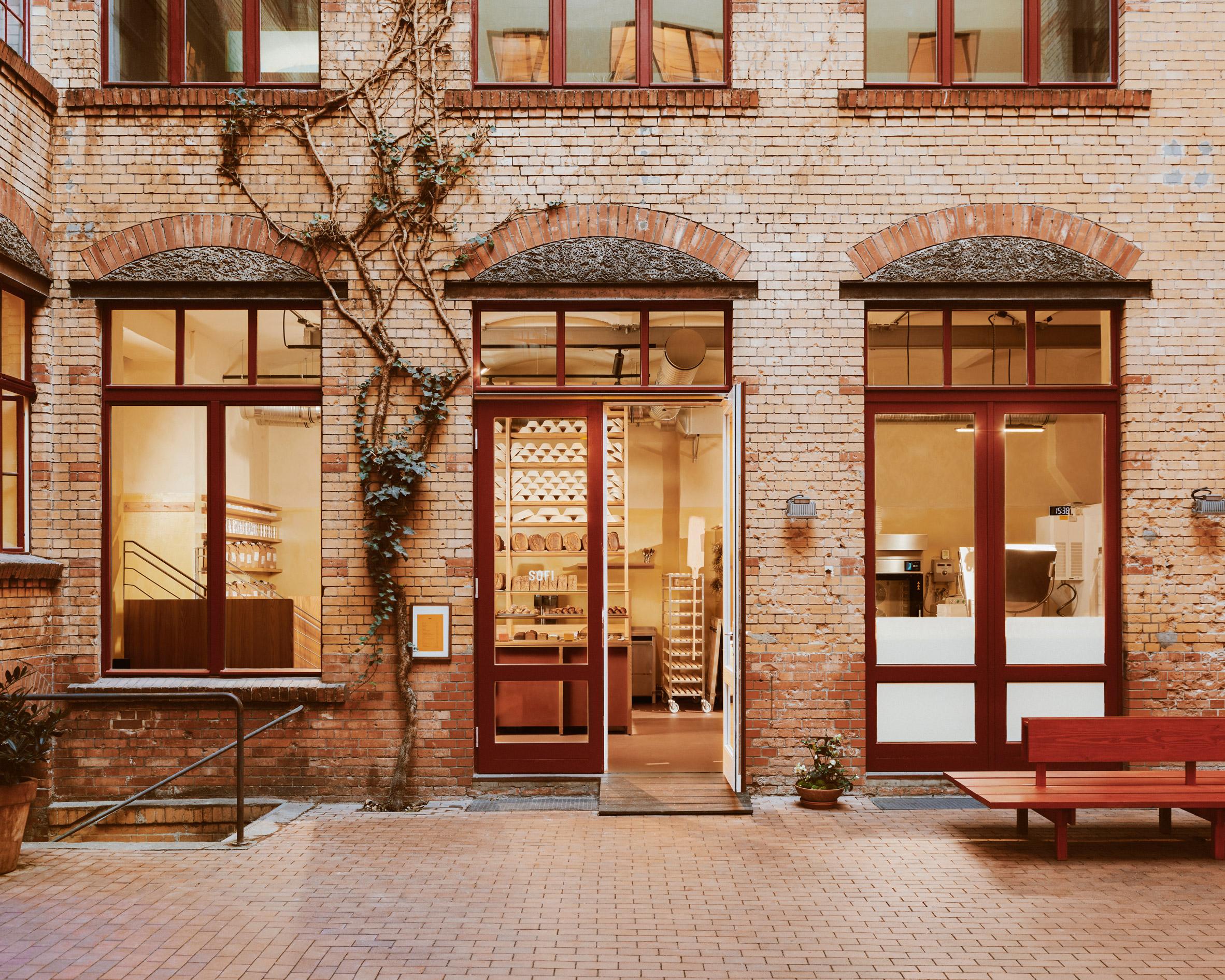 Exterior of Berlin bakery by Mathias Mentze, Alexander Vedel Ottenstein and Dreimeta
