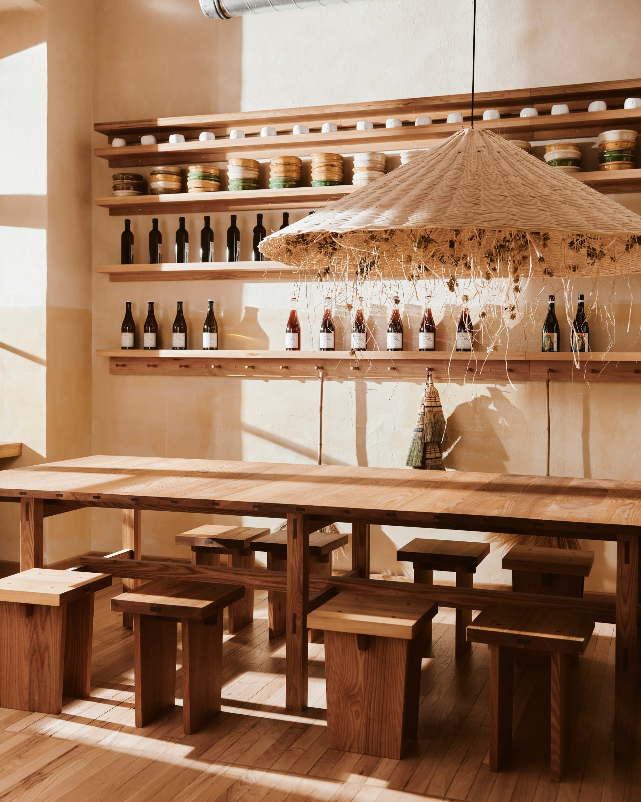 Communal table of Berlin bakery by Mathias Mentze, Alexander Vedel Ottenstein and Dreimeta