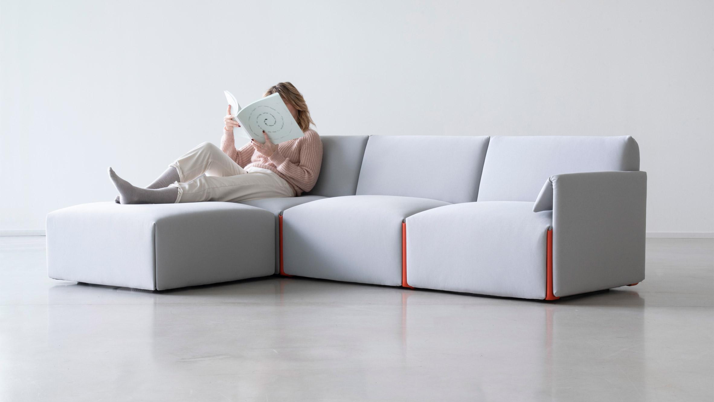 Modular sofa by Stefan Diez for Magis