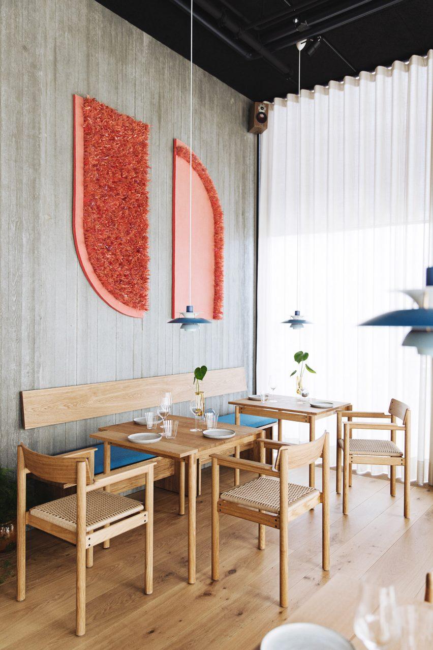 Artwork in Substans restaurant in Aarhus by Krøyer & Gatten