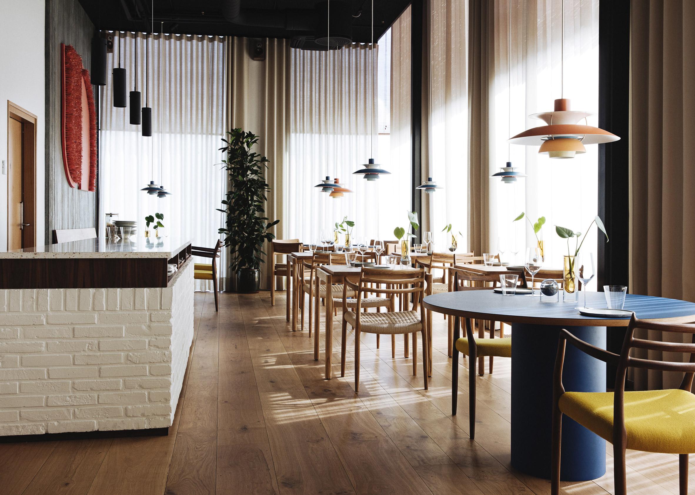 Interior of Substans restaurant in Aarhus by Krøyer & Gatten