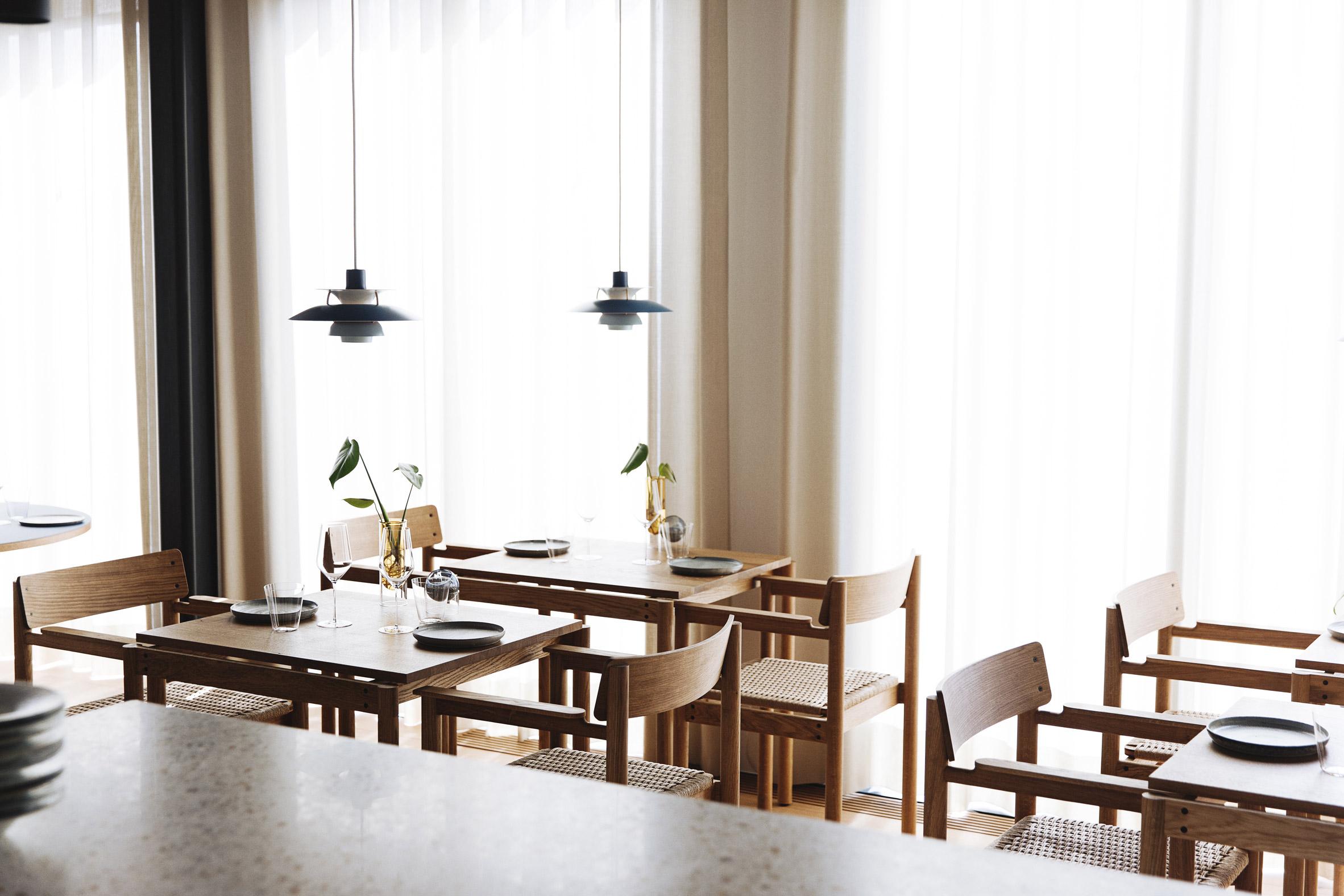 Window in Substans restaurant in Aarhus by Krøyer & Gatten