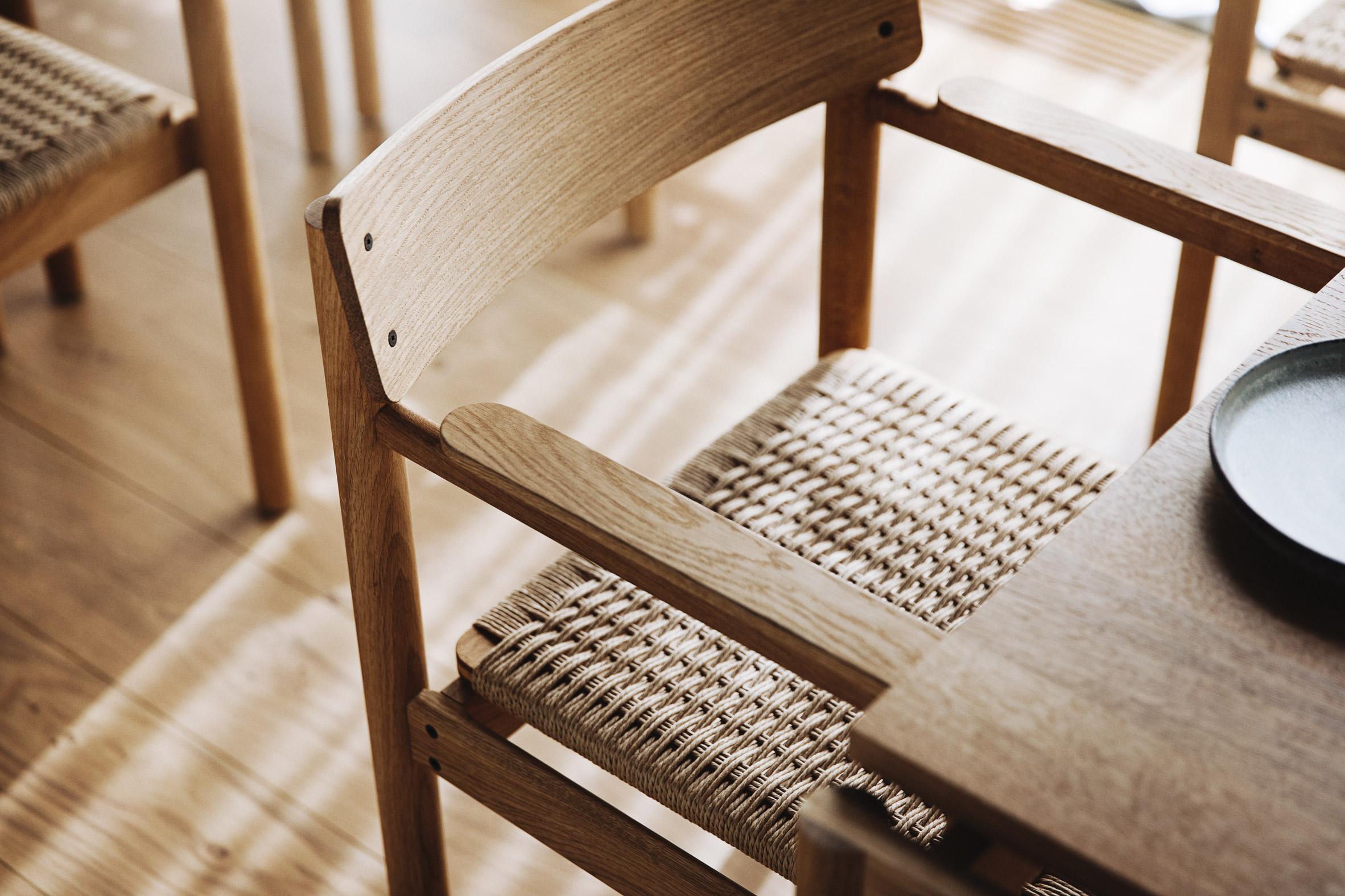 Chair in Substans restaurant in Aarhus by Krøyer & Gatten