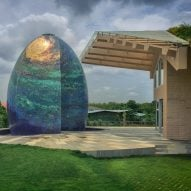 Saket Sethi creates egg-shaped garden temple alongside rural Indian house