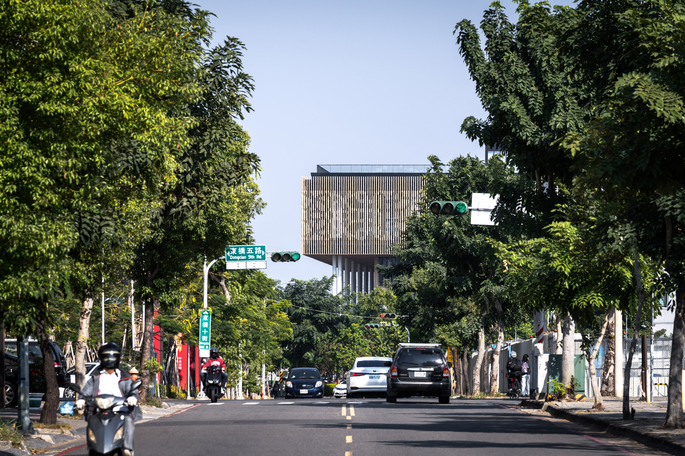 A distant view of Tainan Public Library