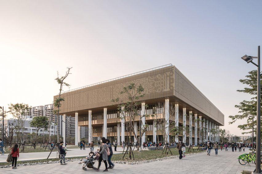 An aluminium-clad public library by Mecanoo and MAYU Architects