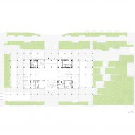 Ground floor of Tainan Public Library by Mecanoo and MAYU Architects