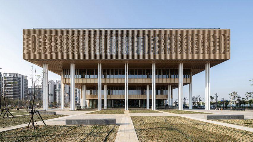 An aluminium-clad public library in Taiwan