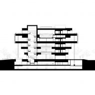 Section of Tainan Public Library by Mecanoo and MAYU Architects