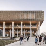 Mecanoo cloaks palatial Tainan Public Library with decorative aluminium cladding