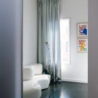 An interior room with hardwood floors