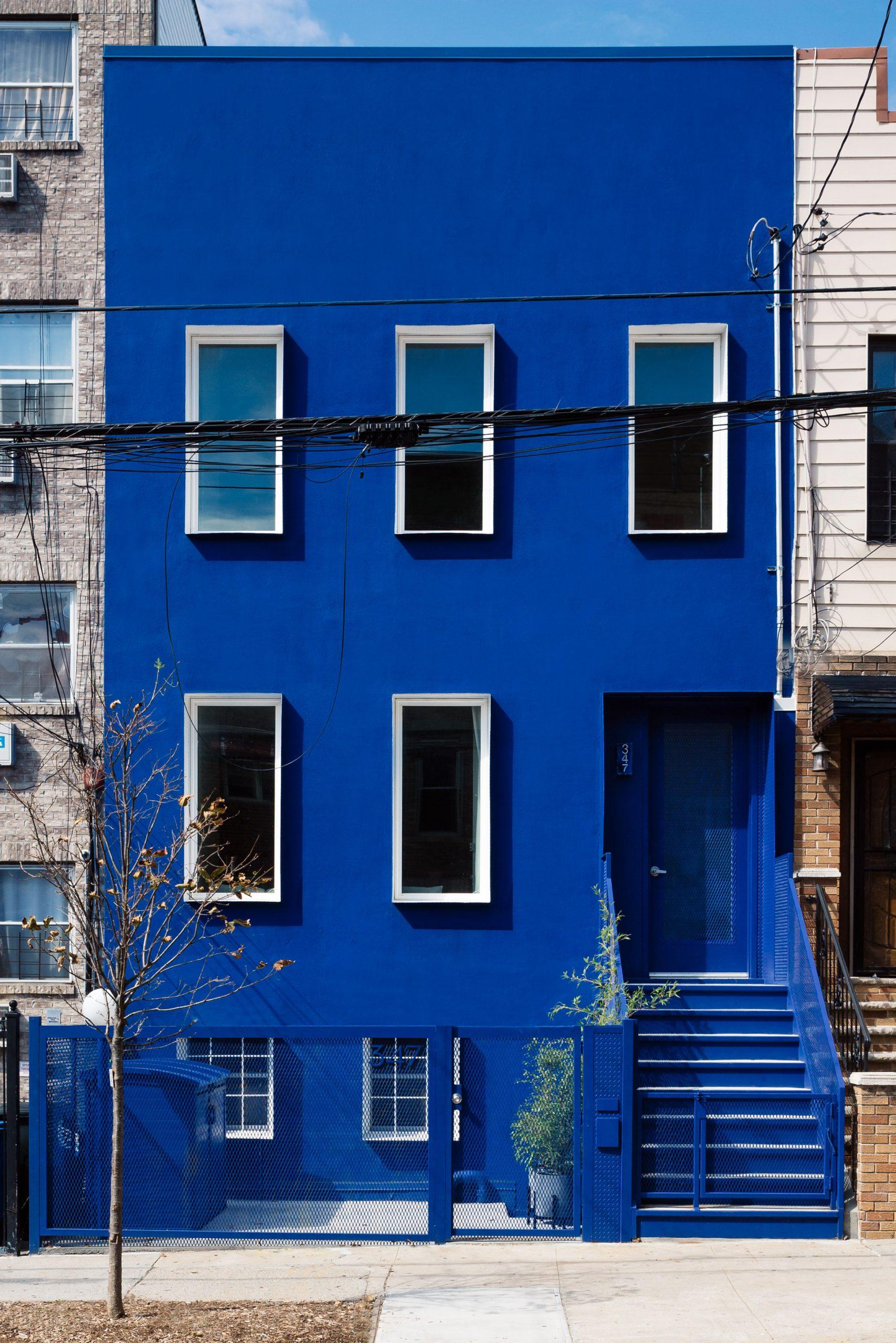 The Blue Building in Bushwick