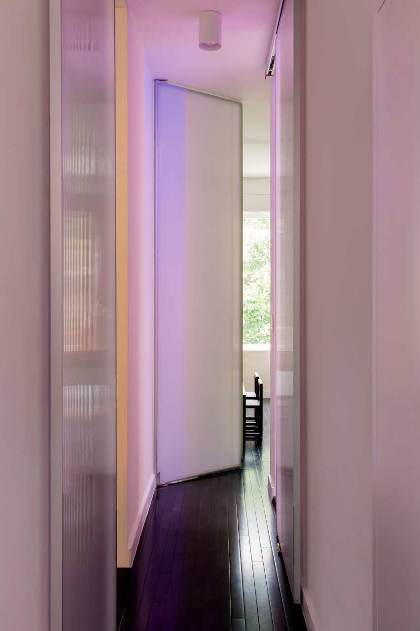 Polycarbonate panels which act as doors