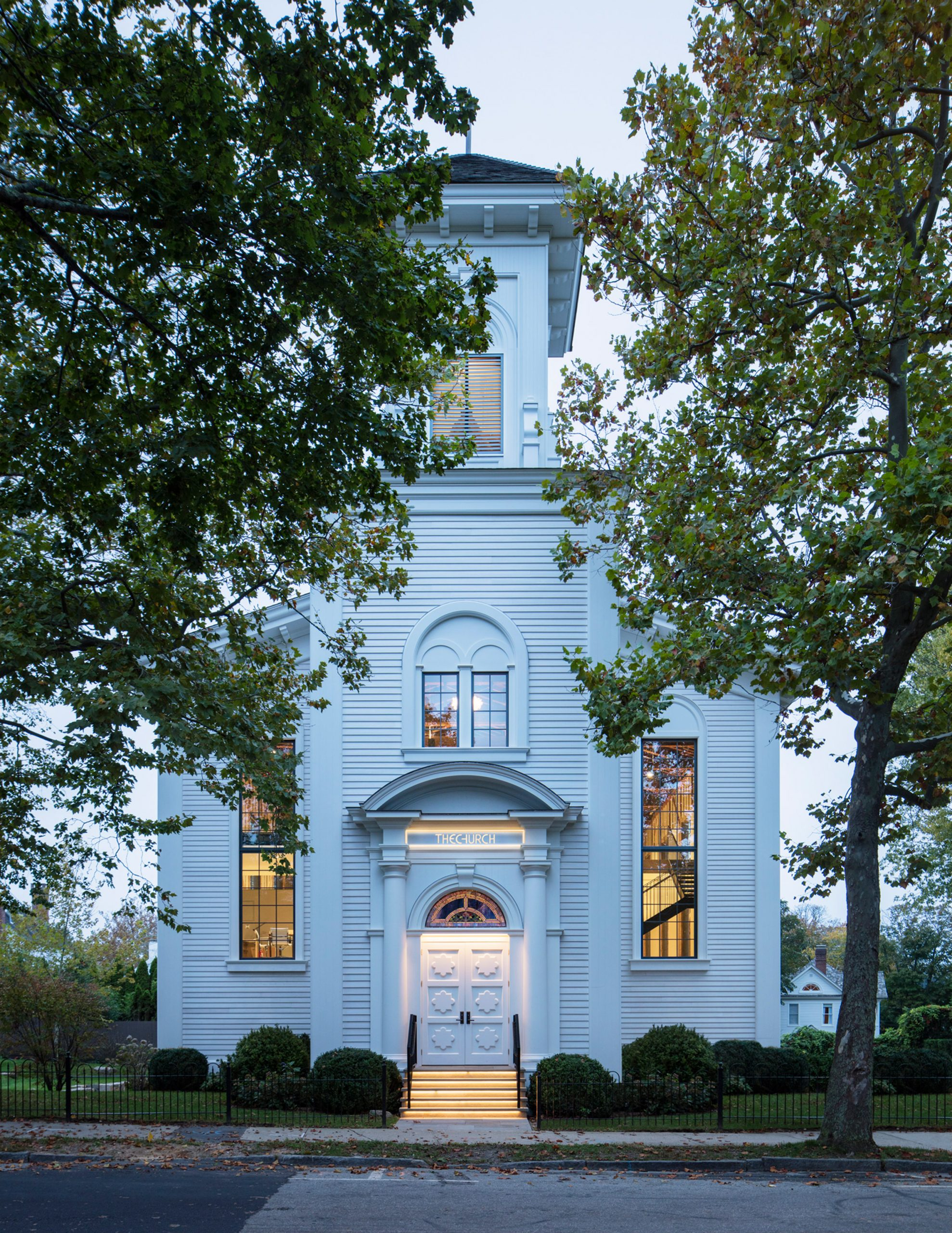 Bell tower of church adaptive reuse by Skolnick Architecture and Design Partnership