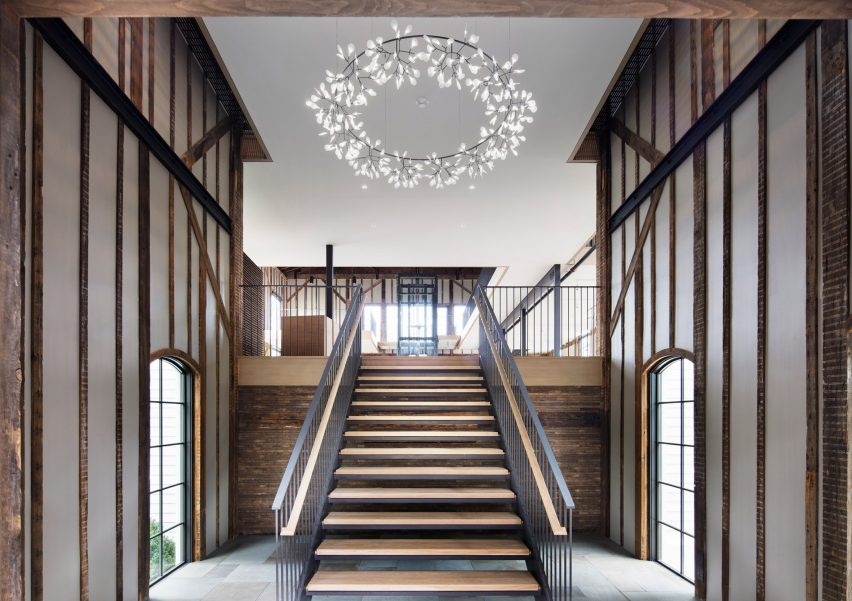 Staircase of church project by Skolnick Architecture and Design Partnership