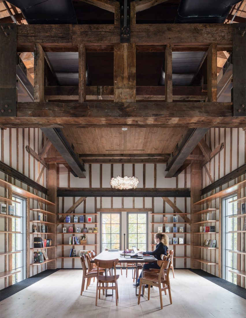 Interiors of converted church in the Hamptons