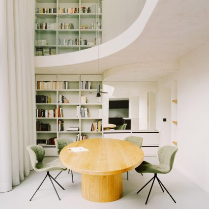 A double-height dining room in a Parisian townhouse by Clément Lesnoff-Rocard