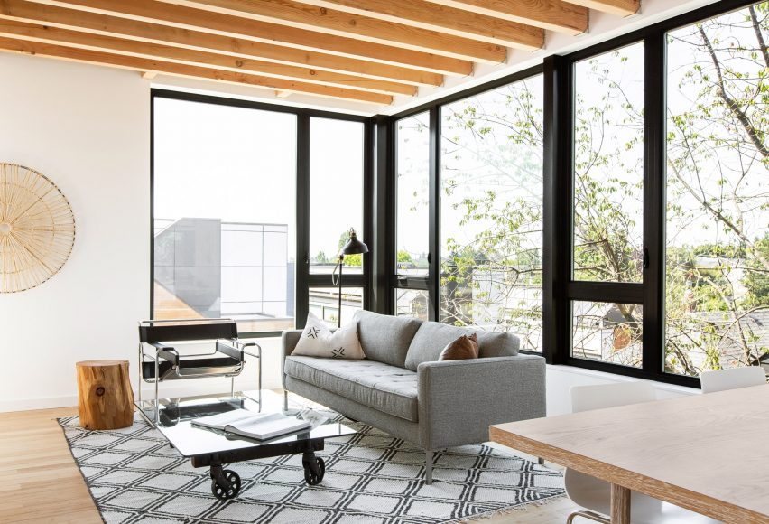 Living area of house in Seattle by Hybrid