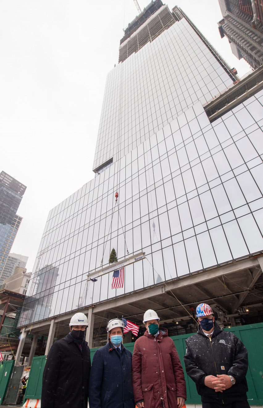 Tishman Speyer celebrates The Spiral topping out