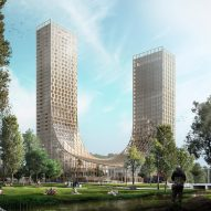 Studio Marco Vermeulen designs cross-laminated timber Dutch Mountains skyscrapers