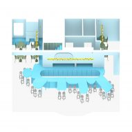 A diagram of the entire cafe