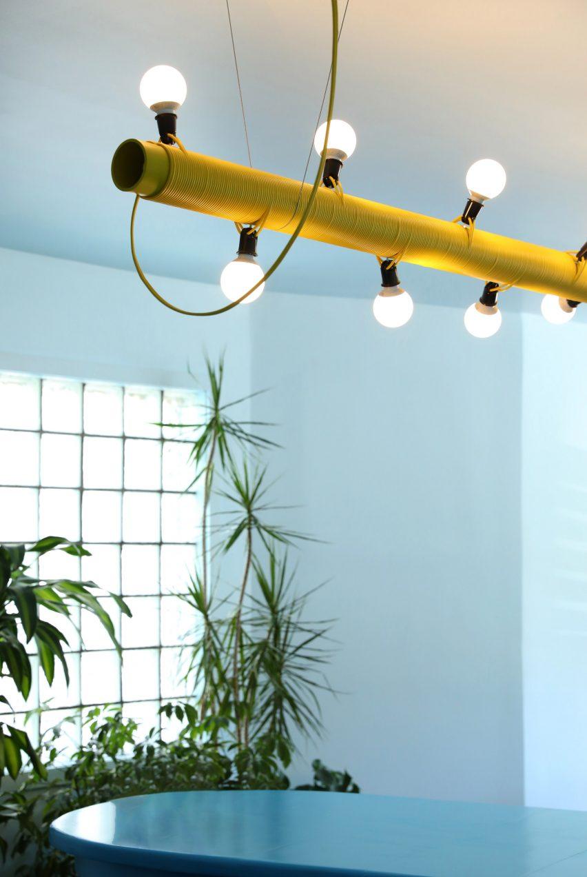 Bespoke lighting made for the cafe