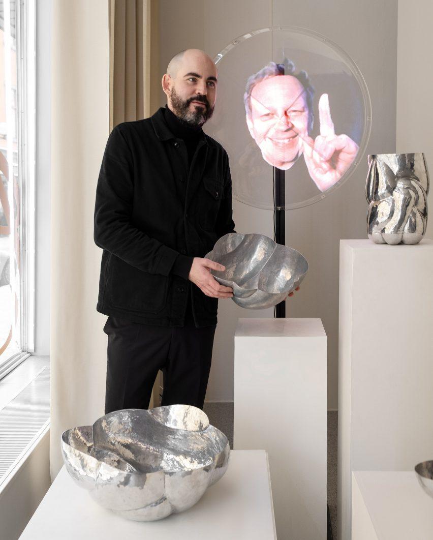 Tom Dixon hologram at Bukowskis