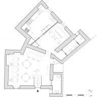 Basement floor plan of Tre De Tutto by Studio Tamat