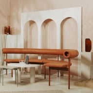 ASKA creates escapist TV set for Stockholm Design Week interviews