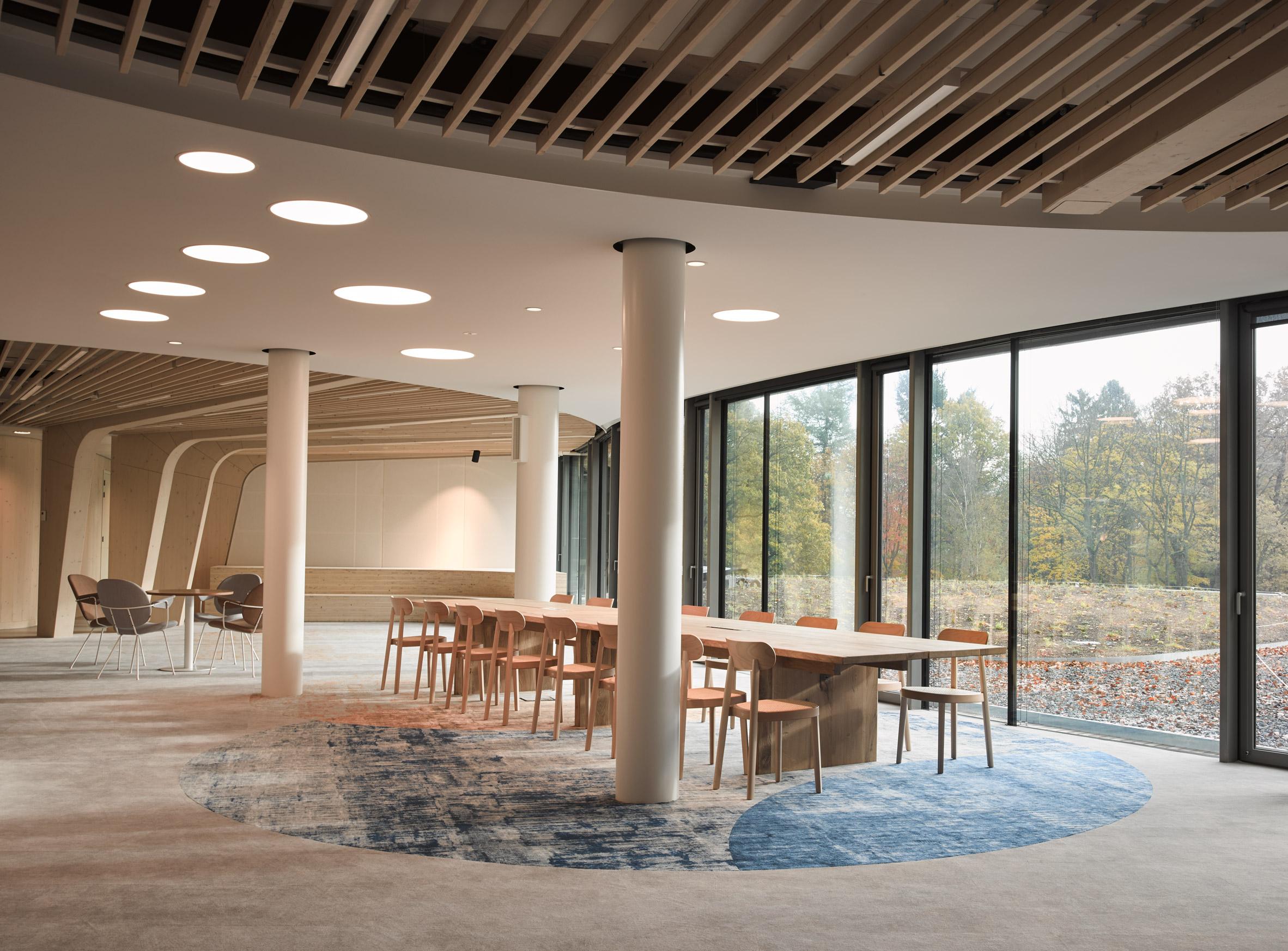 An open-plan office interior
