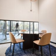 A carpeted meeting room