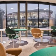The interiors of Triodos Bank office in the Netherlands