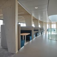 Meeting spaces inside an office interior