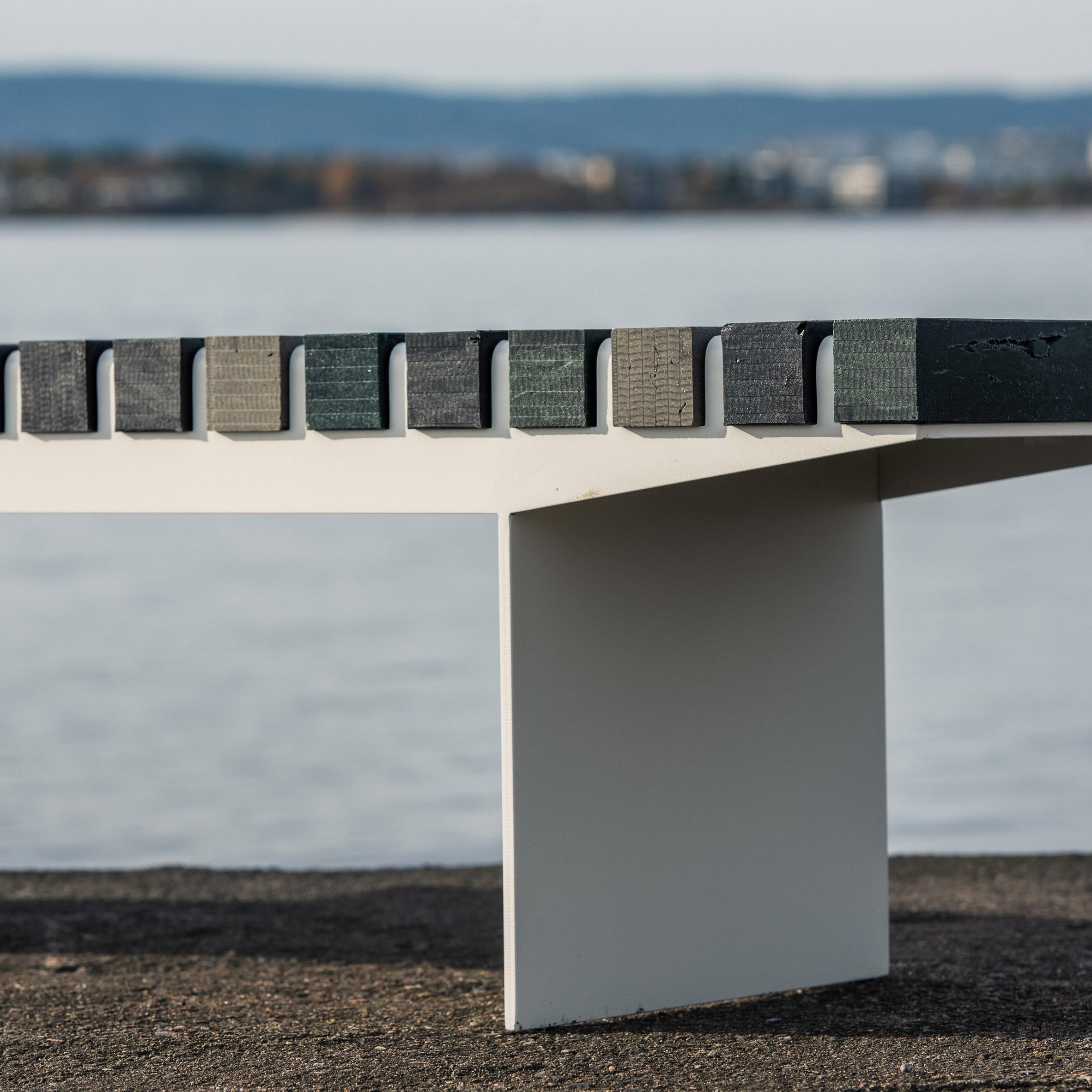 Coast bench by Allan Hagerup for Vestre