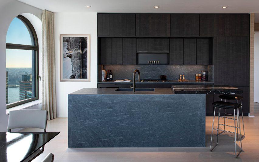 Kitchen of 130 William by David Adjaye