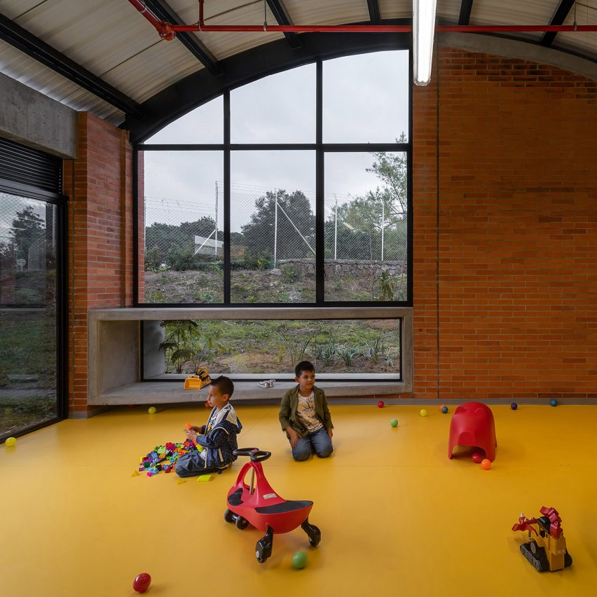 El Povenir Children Center has colourful floors