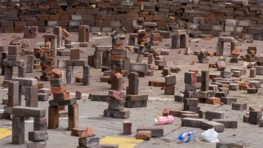 Brick Arches by Hong Kong protestors